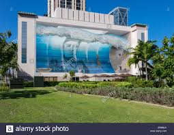 famous wall mural known as mana nalu or spirit of the wave in famous wall mural known as mana nalu or spirit of the wave in honolulu oahu hawaii