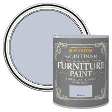 rust oleum blue sky satin furniture paint 0 75l departments