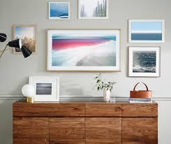 mounting a tv on the wall samsung the frame tv display custom art fully customizable art frame