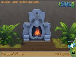 fireplace designs for sims