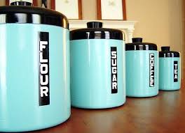 vintage metal kitchen canisters aqua kitchen canisters of vintage metal kitchen canisters fabulous