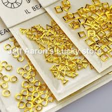 6 packs gold silver metal nail rhinestones decoration tools