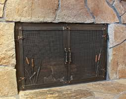 custom wrought iron fireplace door gallery ponderosa forge