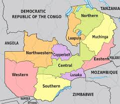 map of zambia zambia map with provinces zambia map with the provinces name