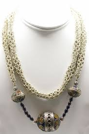 vintage beads necklace images White pearl and vintage afghan bead necklace jpg