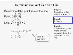 determine if a point lies on a line youtube