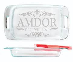 engraved dishes baking dish made with personalized with decorative design
