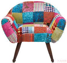 Colourful Upholstery Fabric Folk Art Colourful Furniture By Kare Design Arm Chair Patchwork