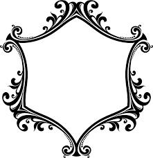 clipart decorative ornamental flourish frame aggrandized 16