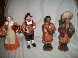 thanksgiving pilgrim statues thanksgiving pilgrim and american indian figurines