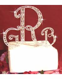 cake topper monogram monogram wedding cake toppers advantagebridal