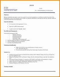 Mba Freshers Resume Format How To Make Cv For Freshersfresher Hr Executive Resume Model 103