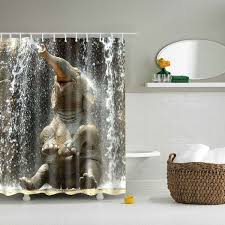 Bathroom Shower Price 3d Elephant Design Mouldproof Waterproof Bath Shower Curtain In