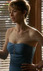 hairstyles of margaux on revenge margaux s blue strapless dress on revenge outfit details http