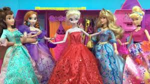 frozen disney princess u0026 barbie doll videos elsa anna snow