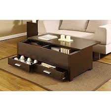 sliding top coffee table amazon com knox coffee table this contemporary storage box table