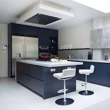 kitchen cabinets new blue kitchen with white gloss tops modern