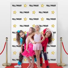 halloween background or backdrop decoration amazon amazon com hollywood star themed step and repeat backdrop for red