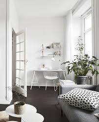 Minimalist Workspace Minimalist Workspace In Living Room White Desk White Bertoia