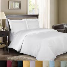 Sateen Duvet Cover King Amazon Com Royal Hotel Sateen Striped 300 Thread Count 3 Piece