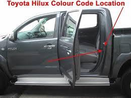 hard top paint colour codes