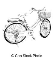 vectors of bicycle sketch illustration hand drawn the