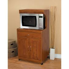 furniture hazelwood microwave carts with wicker storage and