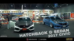 modified honda civic honda civic 2017 hatchback fk4 modified vs civic sedan fc youtube