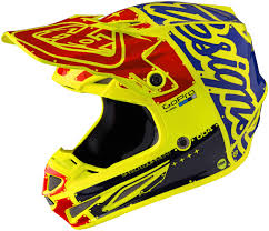 blue motocross helmets troy lee designs se4 twillight carbon blue motocross helmets