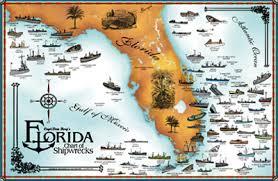 florida shipwrecks map shipwreck map my