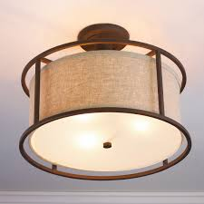 Flush Ceiling Light Fixtures Springfield Drum Shade Semi Flush Ceiling Light Shades Of Light