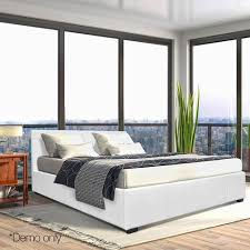 Bed Frame Australia Buy Gas Lift Pu Leather Bed Frame White In Australia