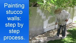 painting exterior stucco walls step by step youtube