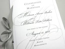 wedding ceremony program paper wedding ceremony program booklet black white custom