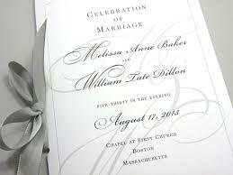 Design Wedding Programs Wedding Ceremony Program Booklet Elegant Black White Custom