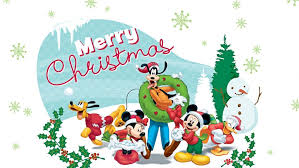merry christmas disney cartoon pictures mickey mouse minnie donald