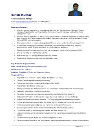 Service Delivery Manager Resume Sample by Resume Sirish Kumar Sdm