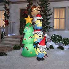 Blow Up Christmas Decorations On Roof by Amazon Com Christmas Inflatable Minions In Car With Christmas