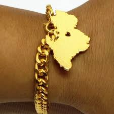 gold plated bracelet charms images Attractive gold plated bracelet with dog terrier charm jpg