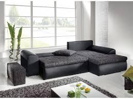 canap noir et gris canapé d angle convertible 2 coloris mississippi