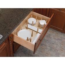 shop rev a shelf 21 25 in x 39 25 in wood peg drawer organizer at