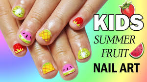 5 easy nail art designs for kids summer fruit nailed it nz