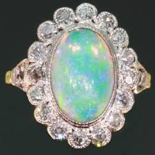 opal necklace setting images Vintage opal engagement ring diamonds setting images by adin jpg