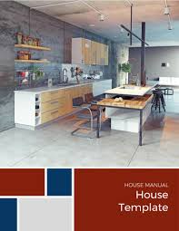 kitchen manual template the house manual