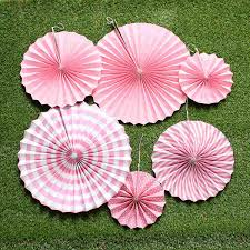 paper fan 6pcs lot wedding decoration crafts flower origami home