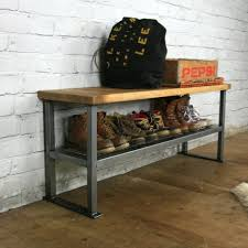 Industrial Bench Seat Bench Shoe Storage And Bench Ayden Shoe Storage Bench Seat Uk