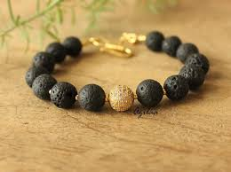 bead bracelet stone images Black bead bracelet with cz lava beads bracelet at 990 azilaa jpg