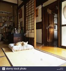 Japanese Living Room Detail Of A Living Room Of A Typical Japanese House With A