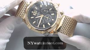gold guess bracelet images Men 39 s gold tone guess chronograph mesh bracelet watch u0205g1 jpg