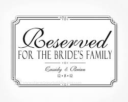 printable reserved table signs reserved sign for wedding printable pdf file reserved table sign
